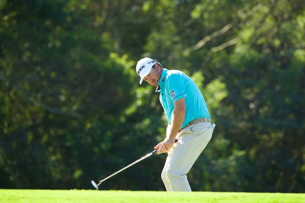January 07 2016: Graeme McDowell just misses a birdie putt on number three during the First Round of the Hyundai Tournament of Champions at Kapalua Plantation Course on Maui, HI. (Photo by Aric Becker/Icon Sportswire) (Photo by Aric Becker/Icon Sportswire/Corbis via Getty Images)