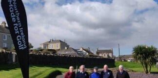 Some of the competitors at Castlerock GC