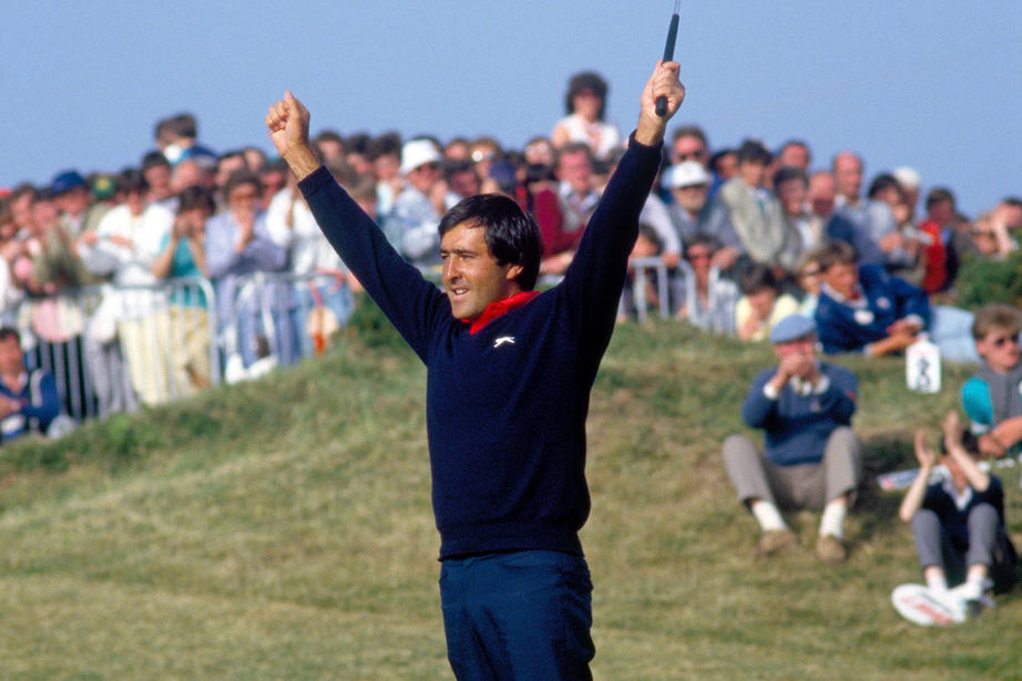 Seve claiming Irish Open victory in 1986 at Portmarnock