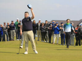 Caolan Rafferty (Dundalk) puts to win The West of Ireland Open Championship in Co. Sligo Golf Club, Rosses Point, Sligo on Sunday 7th April 2019. Picture: Thos Caffrey / www.golffile.ie