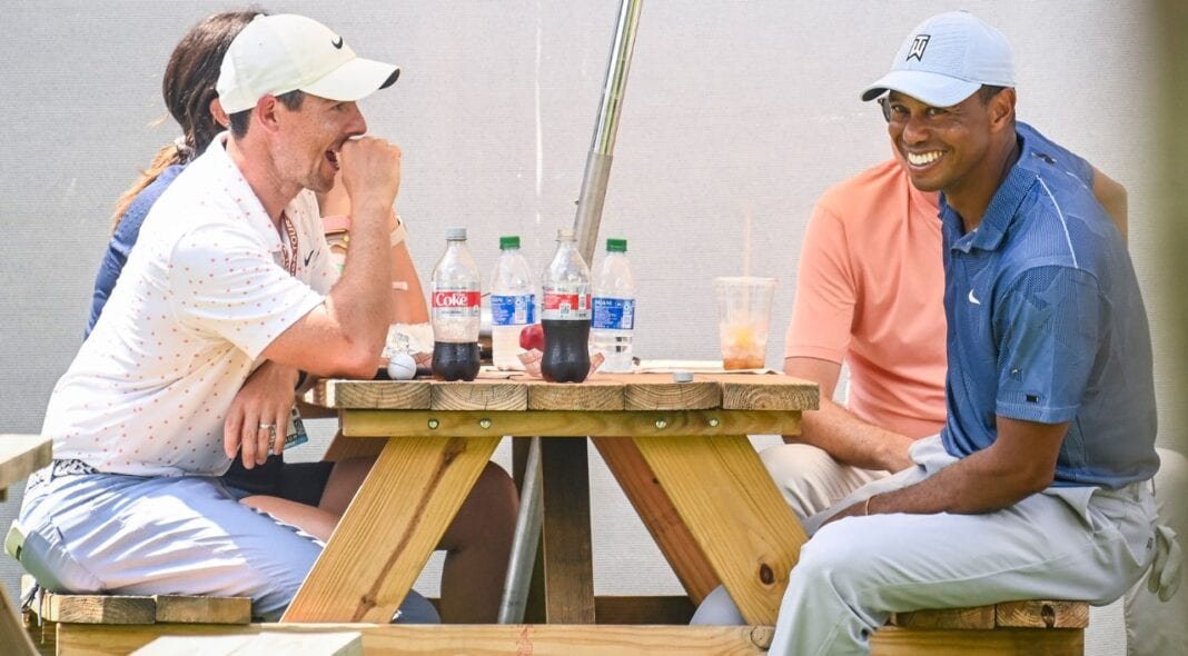 Picture of: Tiger Rory Share A Picnic After Making A Meal Of Boston Rounds Irish Golfer News Magazine